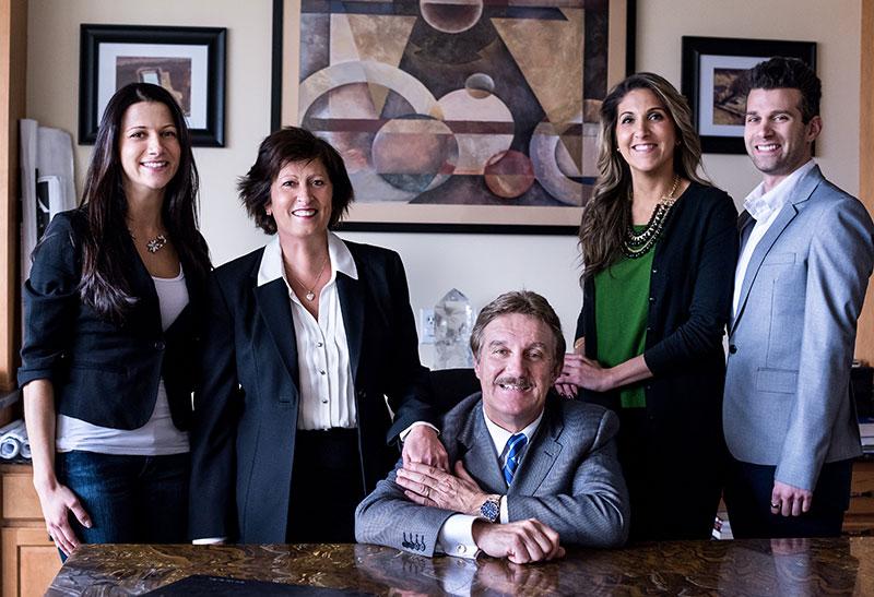 Kalentzos Family Portrait in Chris Kalentzos Office