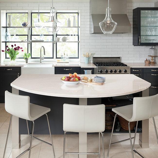 Cambria Ella Countertops In Residential Kitchen Farmstyle