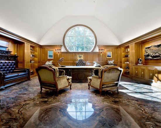 Luxurious Office with Natural Stone