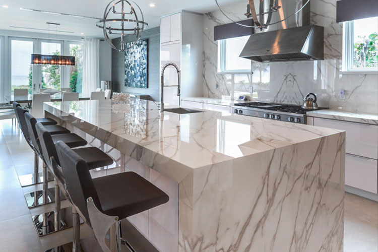 Neolith Calacatta Gold Residential Kitchen Countertop