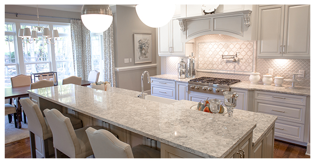 Berwyn Cambria Quartz Countertops In Majestic Kitchen