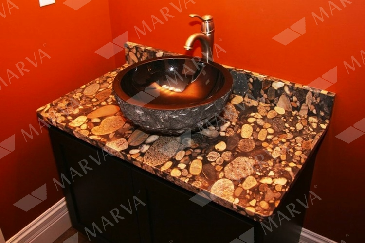 Black Mosaic Gold Granite Designs Marva Marble And Granite