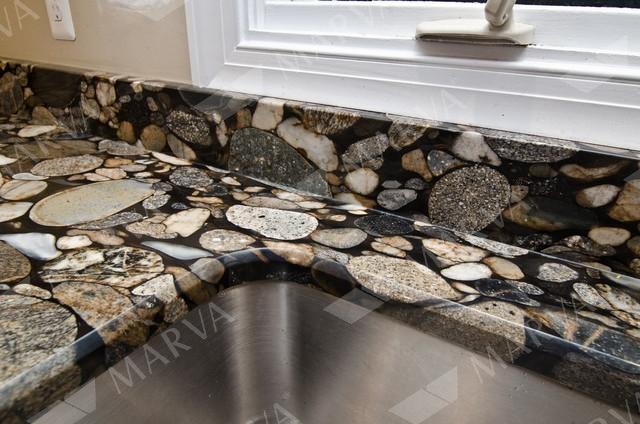 Black Mosaic Gold - Granite Designs - MARVA Marble and Granite
