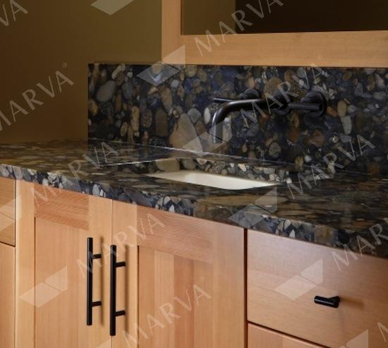 Black Mosaic Gold Granite Designs Marva Marble And Granite