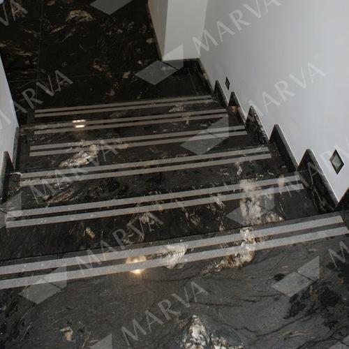 Cosmic Black   Stair Treads