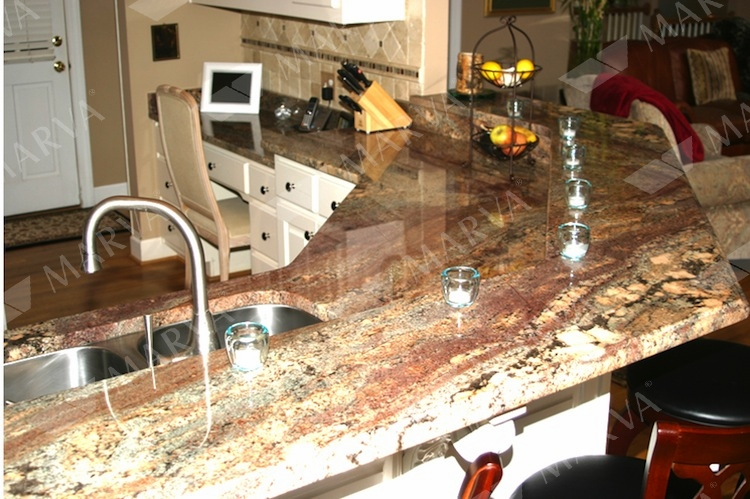 Juparana Crema Bordeaux Granite Designs Marva Marble