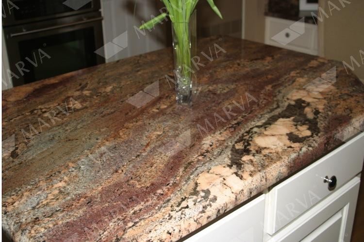 Juparana Crema Bordeaux Granite Designs Marva Marble
