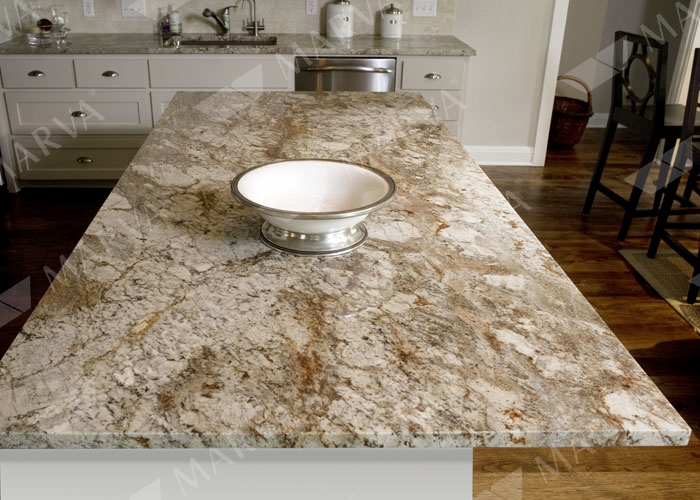 Sienna beige granite with white cabinets related pics